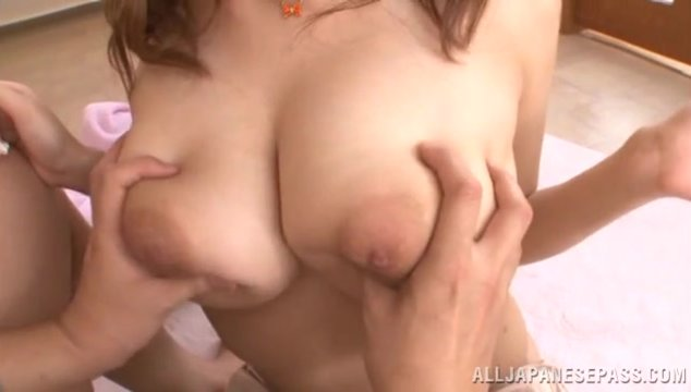 Gorgeous Japanese AV model Shion Utsunomiya is a lovely juicy amateur, and she likes to play with her boyfriend's cock so much.