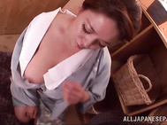 Superb japanese milf Mizuki Ann likes feeling huge cock stimulating her tits and pussy in arousing hardcore action, having her cunt pounded in rear fuck and feeling her holes getting filled with warm scream.