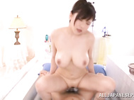The hottie with hot wet body shows off her perfect cock teasing skills, and she stimulates it with her hands and mouth, and places it between her juicy jugs, enjoying a titfuck session, and then gets impaled on this impressive rod, getting banged extremel