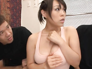 Big Titted Yoga Babe Reiko Nakamori Drinks Tons Of Cum.