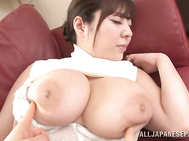 Busty asian milf in stockings is banged.