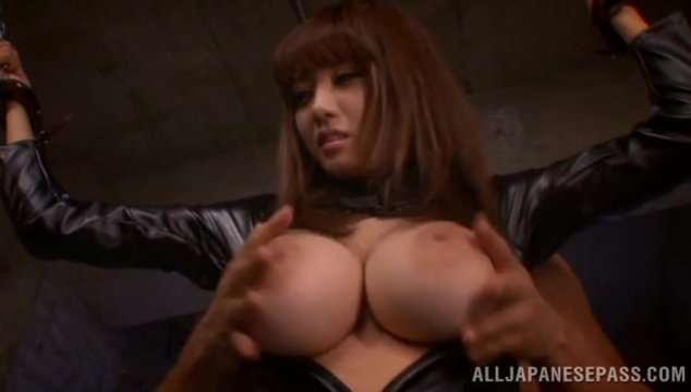 Glamorous Japanese redhead Shion Utsunomiya enjoys Asian porn and bondage sex.
