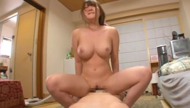 With the camera pointed at her in POV action, she swallows every inch of his cock that she can fit down her throat, and then gets on all fours to get pounded from behind.