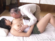 Hot busty Asian stunner Hana Haruna fucked by crazy old dude.