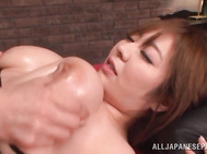 Ran Niiyama chubby Asian chick gets huge boobs boned.