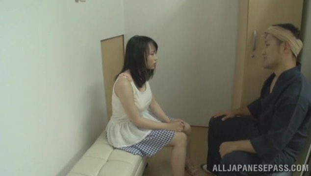 Busty office chick Akane Yoshinaga rides cock of horny boss.