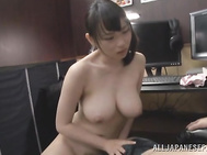 She makes very arousing stripping in front of the horny guy, revealing her wonderful goodies and massages him with her boobs and sucks his rod.