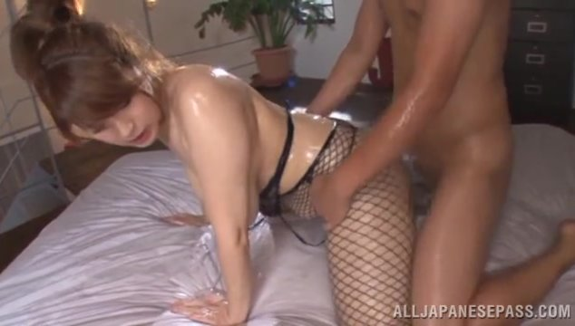 The cutie gets her body oiled, and her lover fucks this sugary mermaid hard.