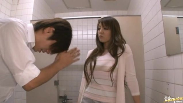 Hitomi gets her Massive Japanese tits out, to wank a guy off.