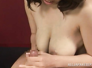 Amazing babe knows her stuff in dealing his dick, gently letting it slide her wet cunt during serious hardcore porn show.