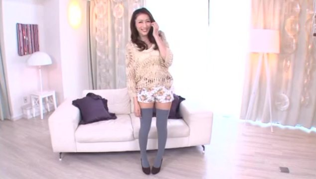 Big breasted MILF Julia rides a cock in thigh highs.