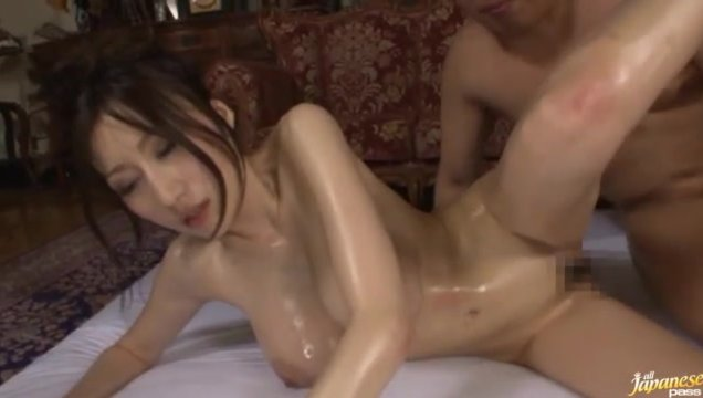 She loves wearing her sexy lingerie as seen in the beginning of this video, which turns into a scene of her sexy oiled body being played with and massaged with horny mens hands.