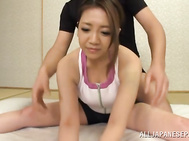 Sweet Japanese babe with big tits Conomi in a sex action.