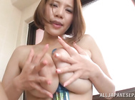 Superb asian babe Ruri Saijoh enjoys feeling her warm clit and amazingly hot and big tits in naughty solo masturbation scene which makes her moan and tremble of pleasure while pounding that cunt deep and hard with her toys and fingers.