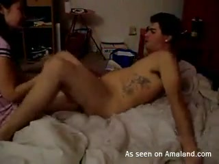 Amateur Asian gets fucked in different positions.
