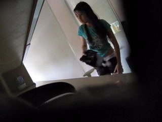 Asian chick recorded by voyeur while taking a shower.