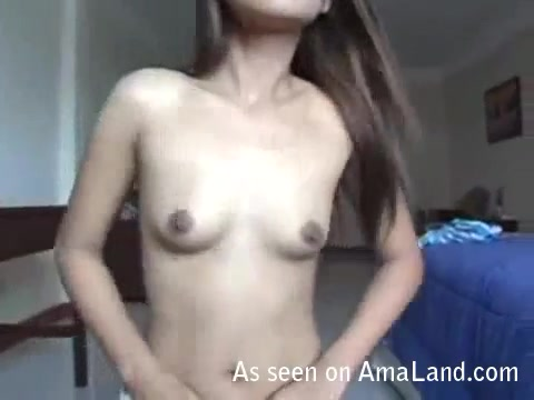 Asian slut fucked and creampied back at the hotel.
