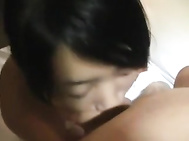 Cute Korean chick gets jizzed in her mouth.