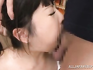 Asian teacher Azusa Ishihara looks pretty enough, and her male students decide to arrange a kinky sex game with her.