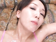Hot milf Shiho loves to get into her sexy lingerie so that she can masturbate freely.