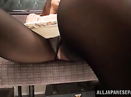 Young babes gets nailed in a public place. 2