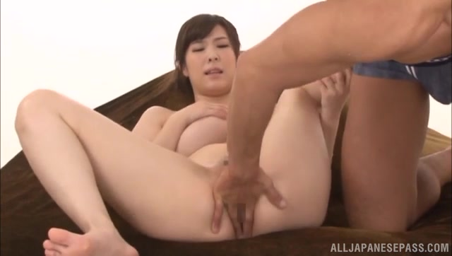 She inserts her naughty fingers deep inside her vagina, and her horny sex partner comes up to help her in fingering.
