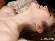 Ai Haneda naughty mature Asian sex model gives excellent blowjob.