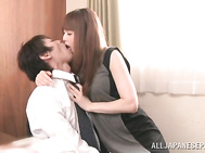 Akiho Yoshizawa is wild and horny in the office.