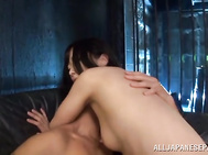 She engulfs the thick rod of her sex partner and licks his ass in ecstasy, and then she rides his stiff rod mercilessly, getting cum in mouth and swallowing!.