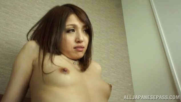 Insolent Japanese beauty with small tits and a nice ass, RIno Mizusawa, is eager to have this tasty dick deep drilling her pussy in a wonderful Asian hardcore action.