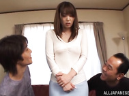 Alluring Asian tempress Yui Hatano- nasty gang bang.