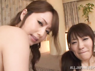 The cuties are in very playful mood, and they treat cock and body of their sex partner with extreme passion.