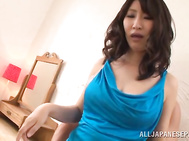 Horny and excited Japanese milf Marina Shiina is surely enjoying ass licking right now! Her partner performs that kinky action with so much agility.
