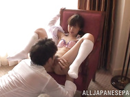 Cute Japanese girl Koko Seko has flawless slender body and nice tight ass.