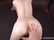 She gets them fingered and licked, and then rammed by big hard boner of her lover, and after a hot cock riding session she gets cum in her mouth.