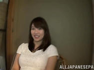 Awesome Asian sex model Sumire Takaoka sucks and rides cock on pov.