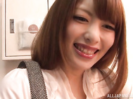 Ayu Sakurai Asian amateur makes magic with her warm lips.