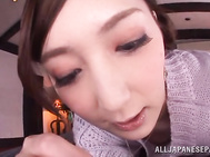 Babe with bubble ass Kaede Fuyutsuki enjoys cock in pussy.