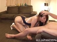 Nice looking Japanese race queen Ooba Yui gets off with her horny boyfriend.