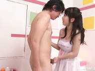 Bubble-assed chick with big tits Arisa Misato fucks a horny doc.