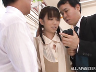 Busty Asian beauty Asuka Hoshino gets penetrated hard for the cumshot.