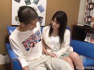 Busty Asian hottie Arisa Misato deepthroats her boyfriend and gets slammed.