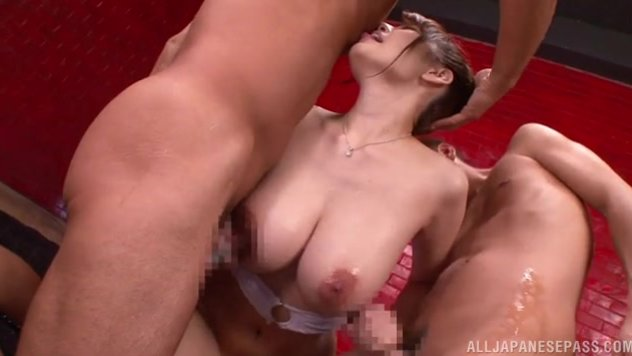 She looks so sexy in her white bikini, and she spreads her legs, revealing her pussy, and gets it licked.