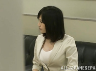 Busty office lady Hibiki Ootsuki fucked roughly in a doggystyle.