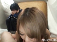 he amazingly curved teen sucks,strokes and gags on a huge palpitating pole before a tenacious pussy plowing.