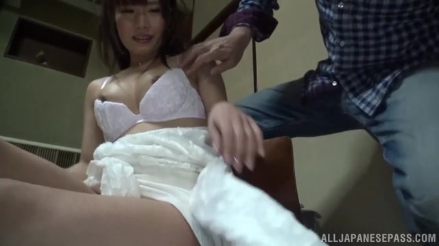 Very horny Japanese amateur chick Miko Hinamori gets her pussy licked and her juicy tits squeezed by a horny guy.
