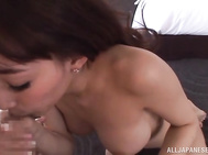 She is excellent with her hands and mouth and he moans in pleasure.