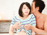 Curvaceous milf Kaho Shibuya enjoys kinky toying and hot cock riding.