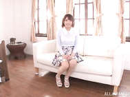 Cute Asian chick Urumi Narumi wants sex so bad.