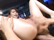 It seems unreal as she is banged doggy style.